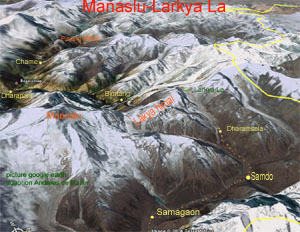 0 dharamsala google earth Larkya La P 300