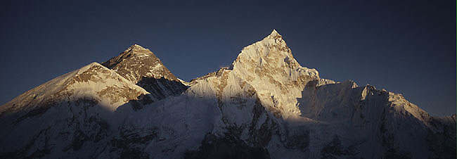 Everest nuptse 3 sunset  Panorama P 0650