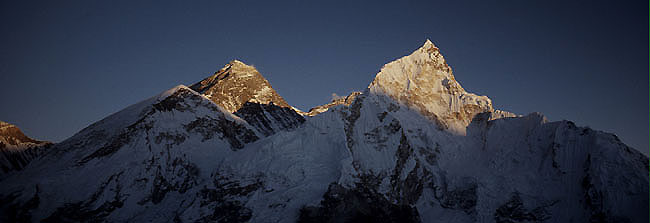 Everest nuptse 4 sunset  Panorama P 0650