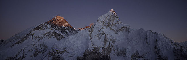 Everest nuptse 5 sunset  Panorama P 0650