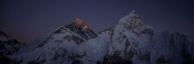 Everest nuptse 6 sunset  Panorama P 0650