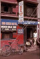 Freak street Hashish-shop-Kathmandu-1973  Rodger McLassus Wikipedia