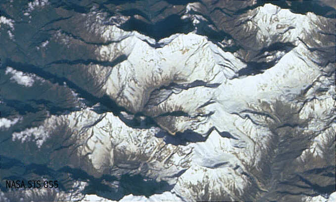 Space pictures from Nepal: Annapurna Sanctuary
