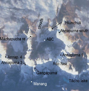 Space picture from Nepal ABC, Annapurna sanctuary Nepal